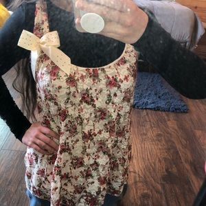 Floral Tank Top with Bow